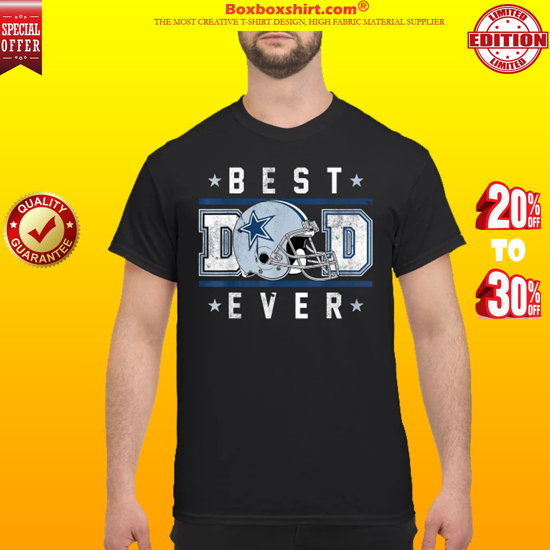 af30626ffdb HOTTEST] Best Dad Ever Football Dallas Cowboys shirt