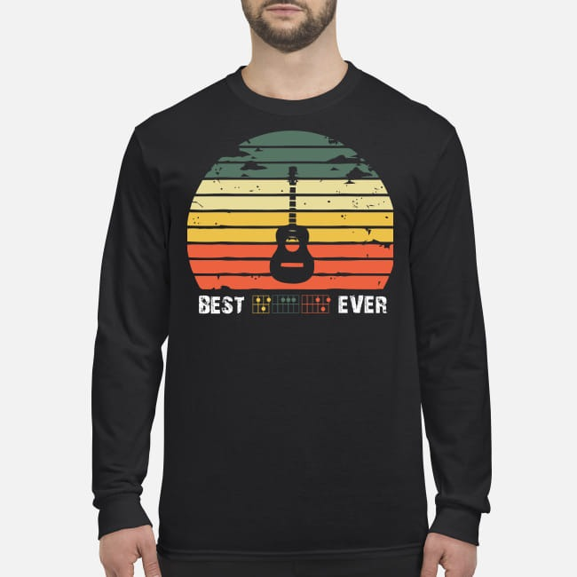 Best guitar ever men's long sleeved shirt