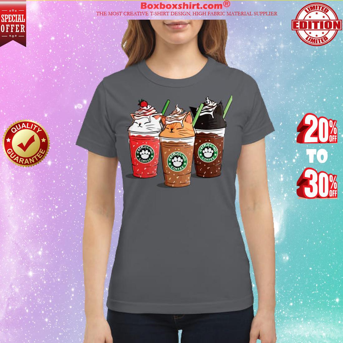 Catpuccino coffee classic shirt