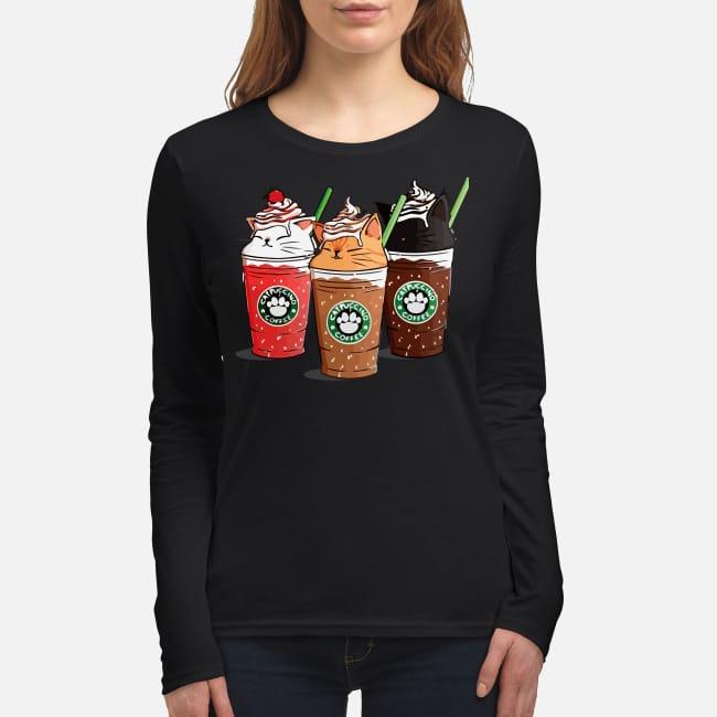 Catpuccino coffee women's long sleeved shirt
