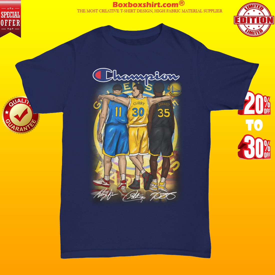 Champion Thompson Curry Durant unisex tee shirt