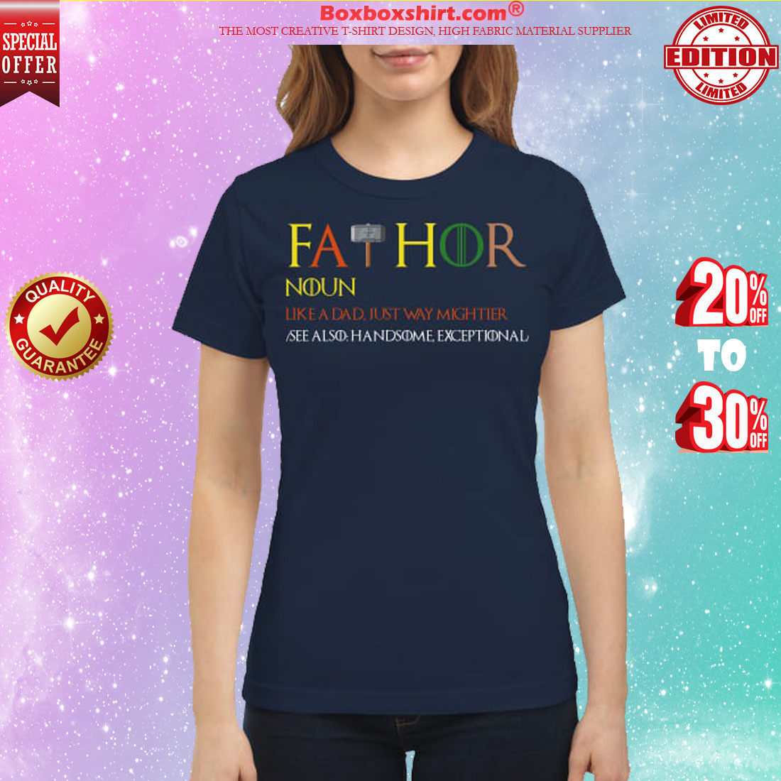 Game of Thrones fathor like a dad just way mightier classic shirt