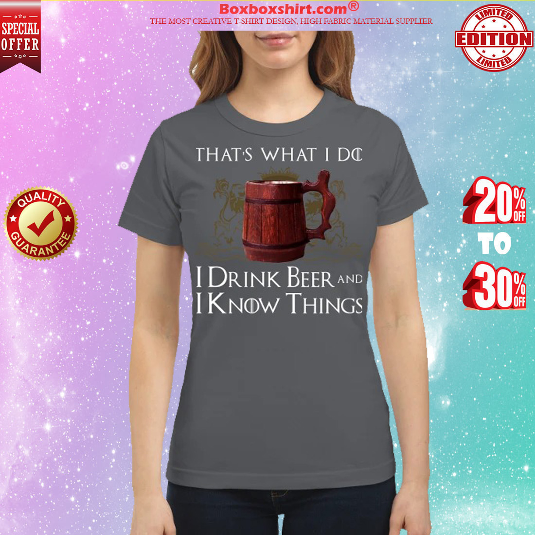 Game of Thrones that what I do I drink bee and I know things classic shirt