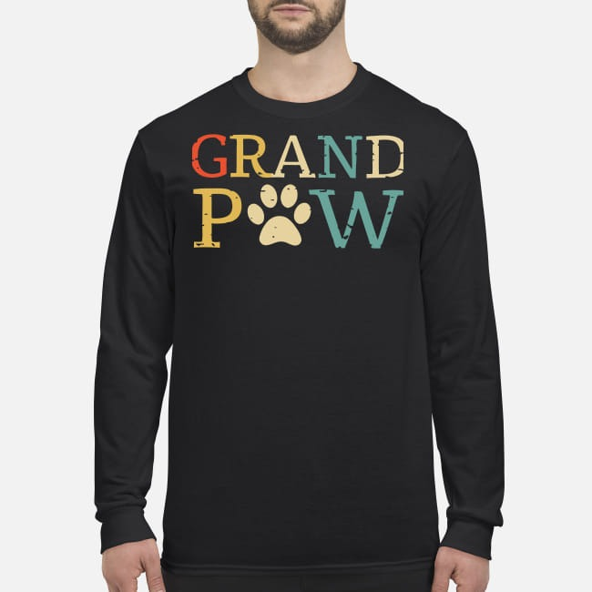 Grand paw men's long sleeved shirt