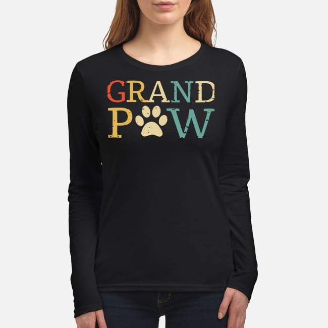 Grand paw women's long sleeved shirt
