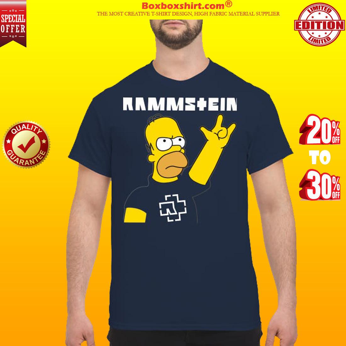 Homer simpson rammstein classic shirt