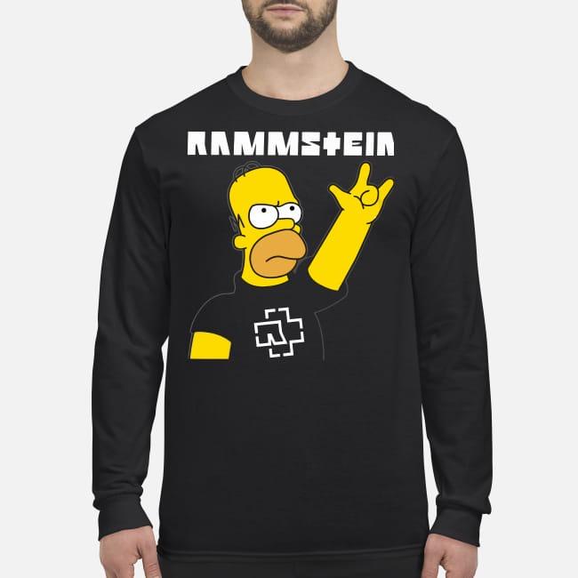 Homer simpson rammstein men's long sleeved shirt