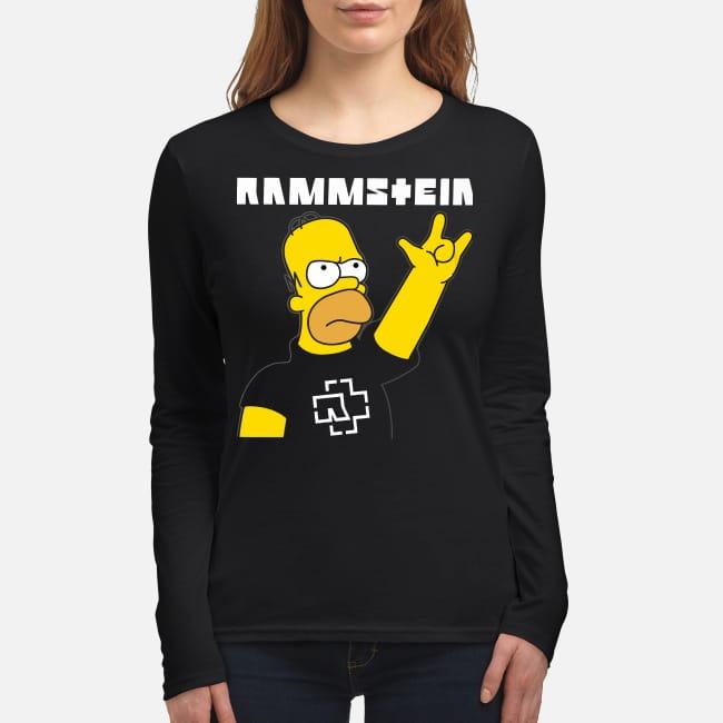 Homer simpson rammstein women's long sleeved shirt