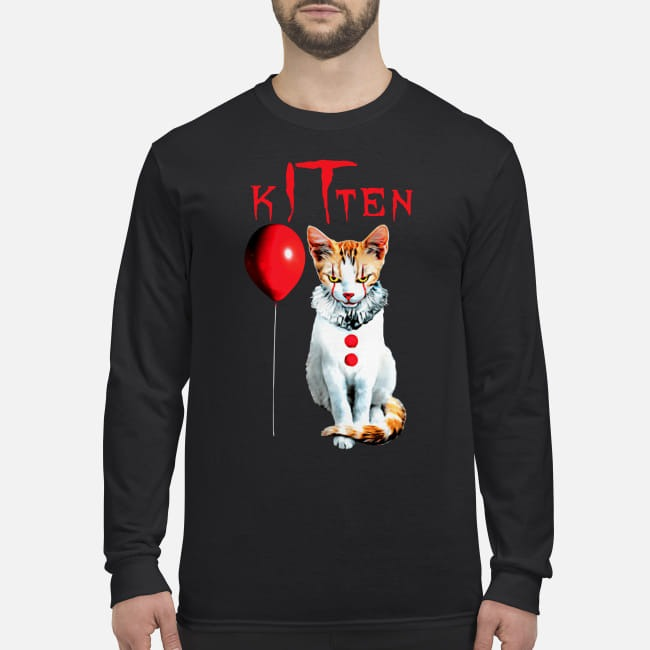 IT kitten cat men's long sleeved shirt