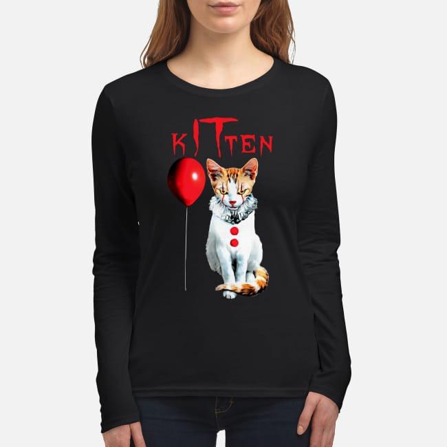 IT kitten cat women's long sleeved shirt