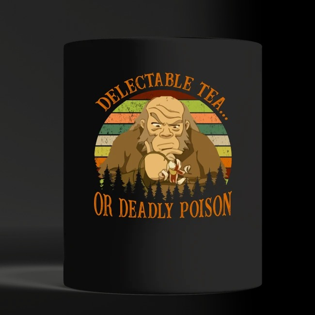 Iroh delectable tea or deadly poison black mug