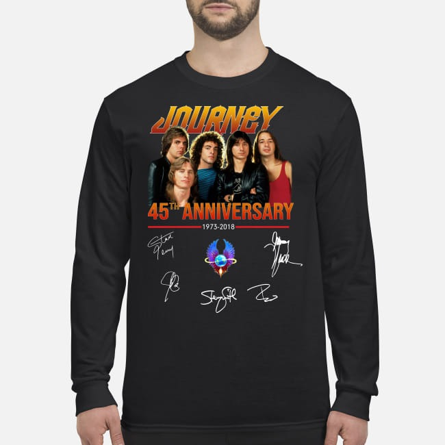 Journey 45th anniversary signatures men's long sleeved shirt