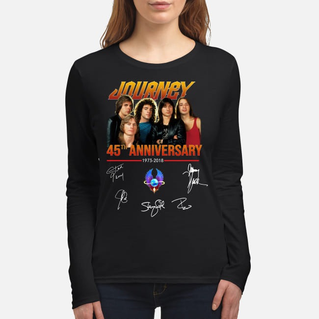 Journey 45th anniversary signatures women's long sleeved shirt