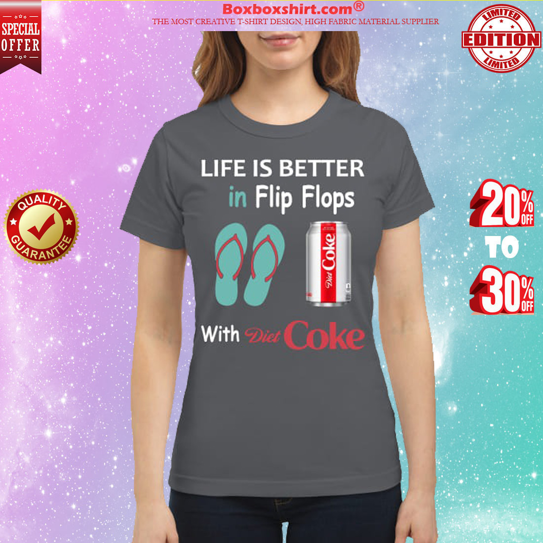 Life is better in flip flops with Diet Coke classic shirt