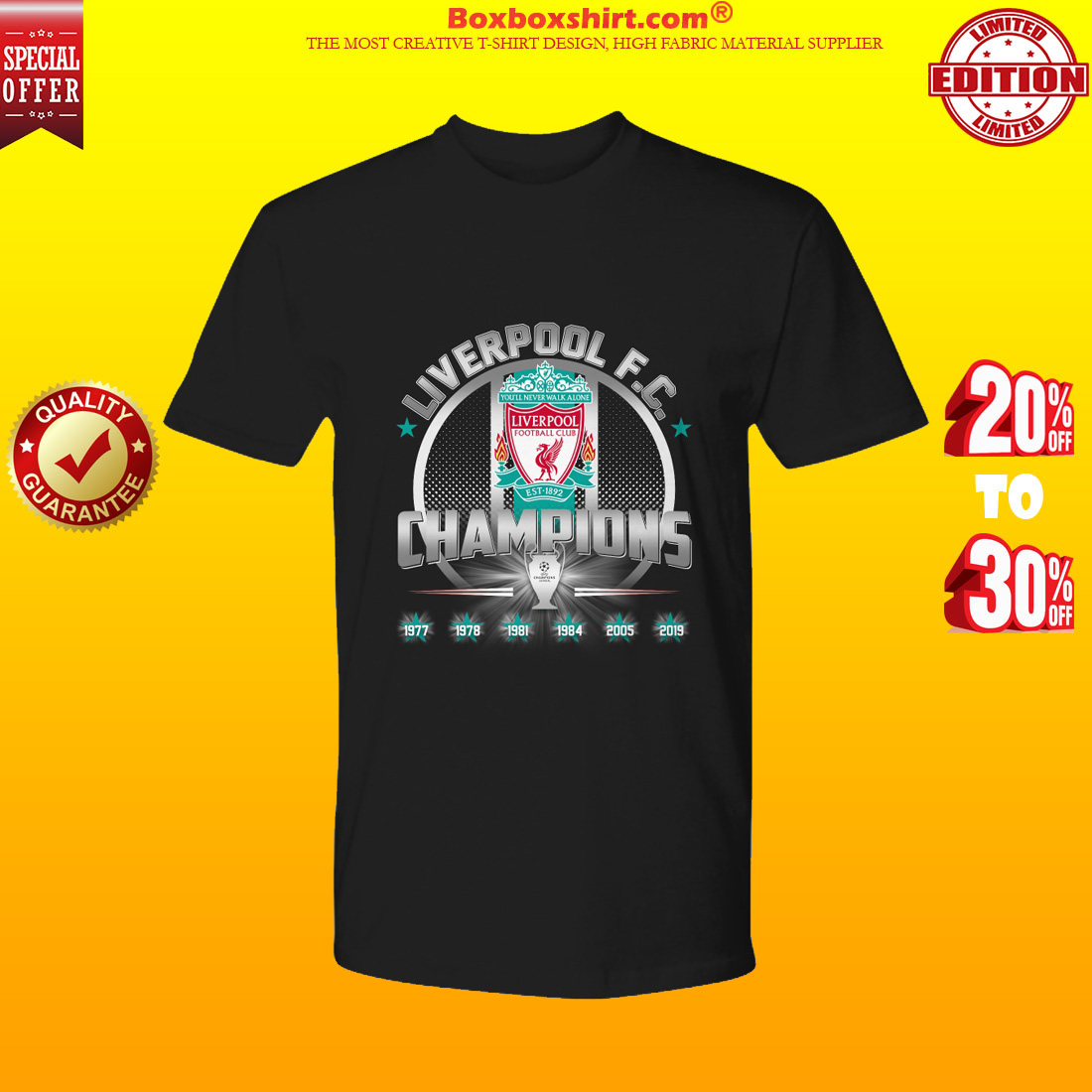 Liverpool FC Champions 2019 premium tee shirt