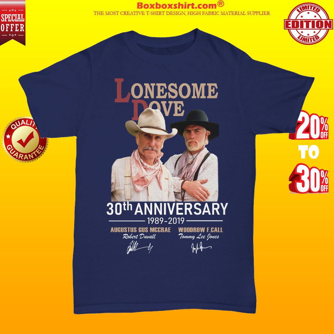 Lonesome Dove 30th anniversary 1989 2019 unisex tee shirt