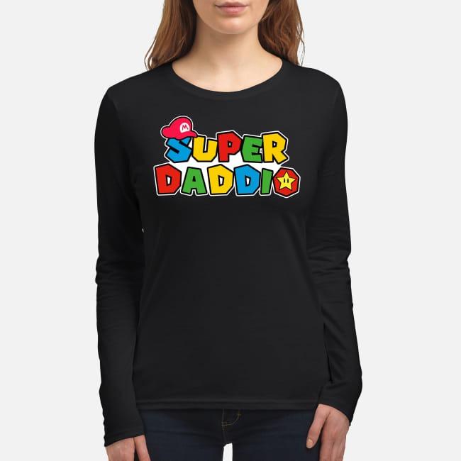 Mario Super daddio women's long sleeved shirt
