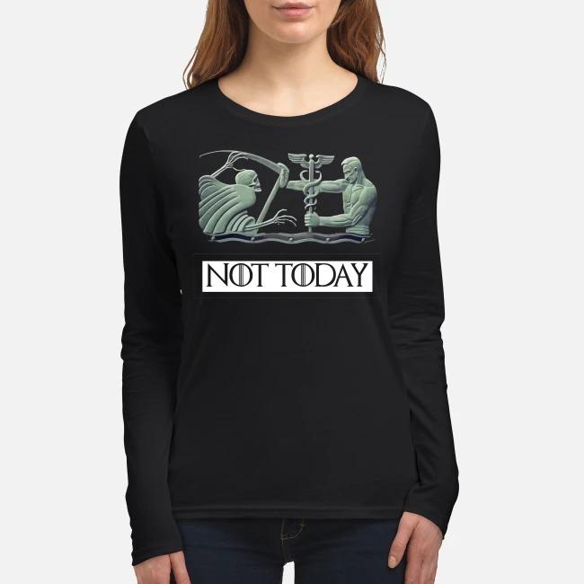 Nurse not today women's long sleeved shirt