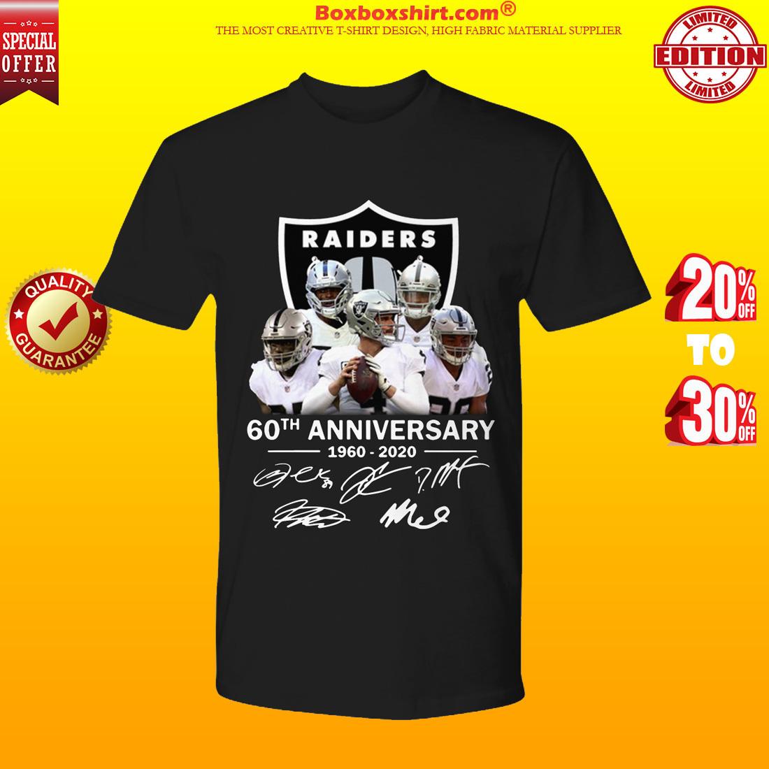 Oakland Raiders 60th anniversary 1960 2020 shirt