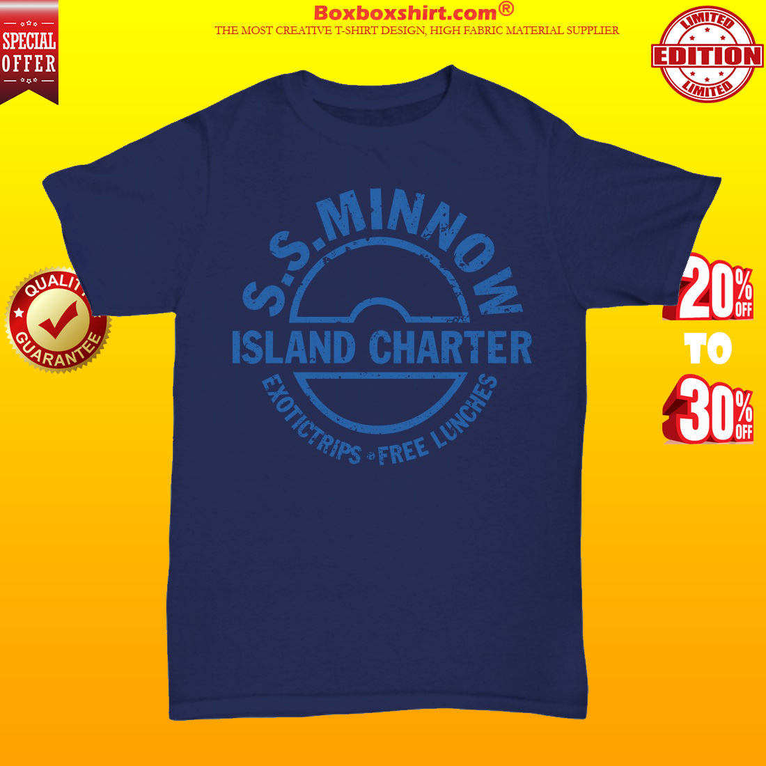 SS minnow island charter exotictrips and free lunches unisex tee shirt