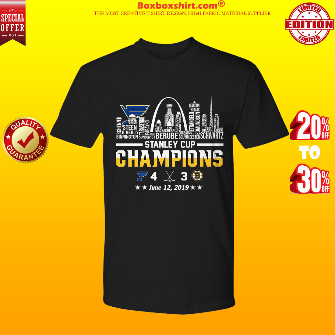 Louis Blues 2019 Champions First Stanley Cup In Frachise History TShirt HOT St