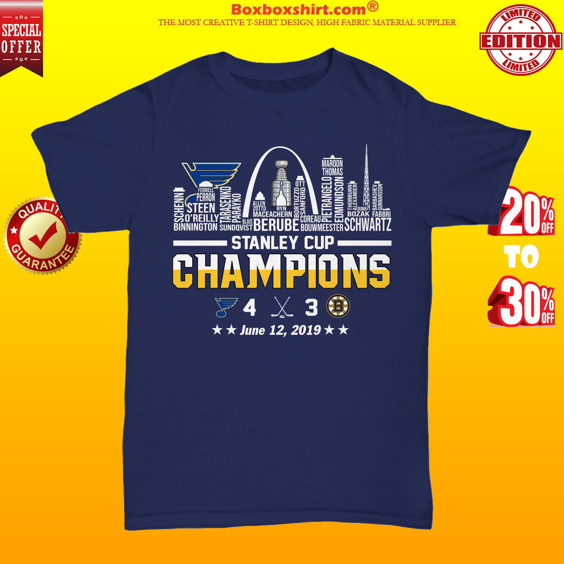Stanley cup champions St Louis Blues unisex tee shirt