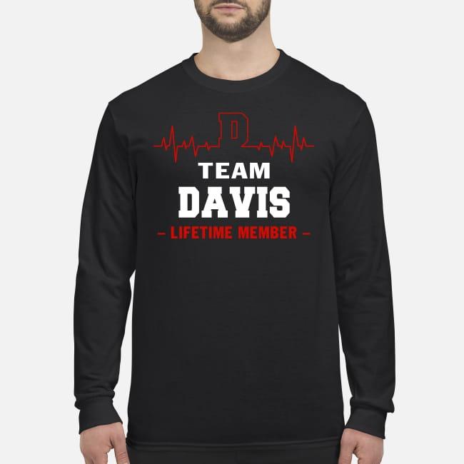 Team Davis Lifetime member men's long sleeved shirt