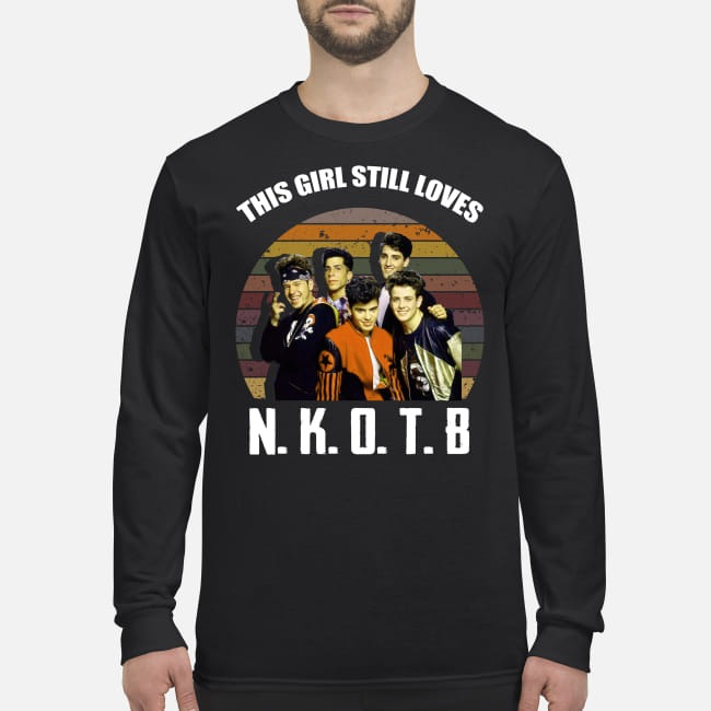 This girl still loves New Kids on the Block men's long sleeved shirt
