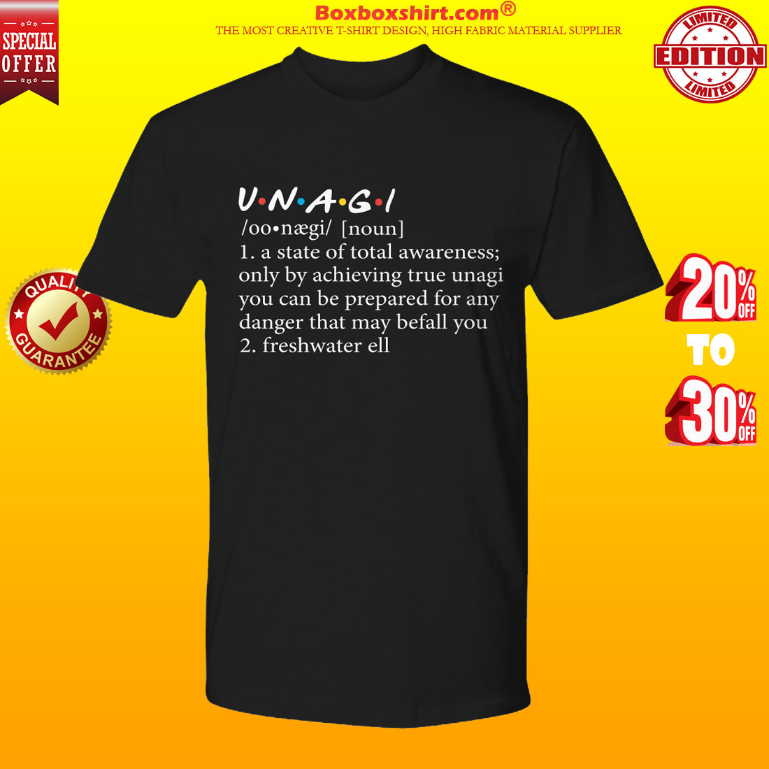Unagi a state of total awareness only by achieving true unagi shirt