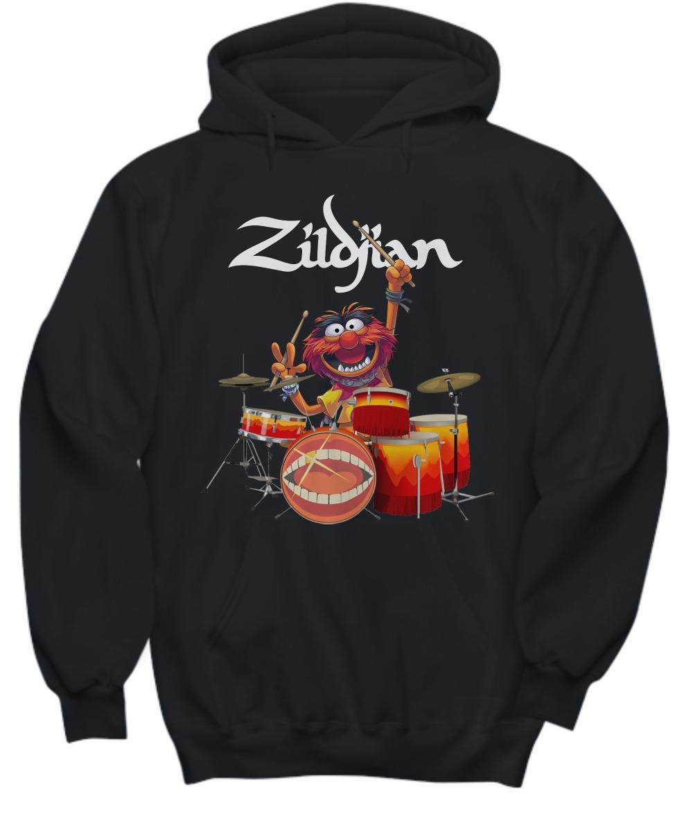 Zildjian muppet playing drums shirt and hoodie
