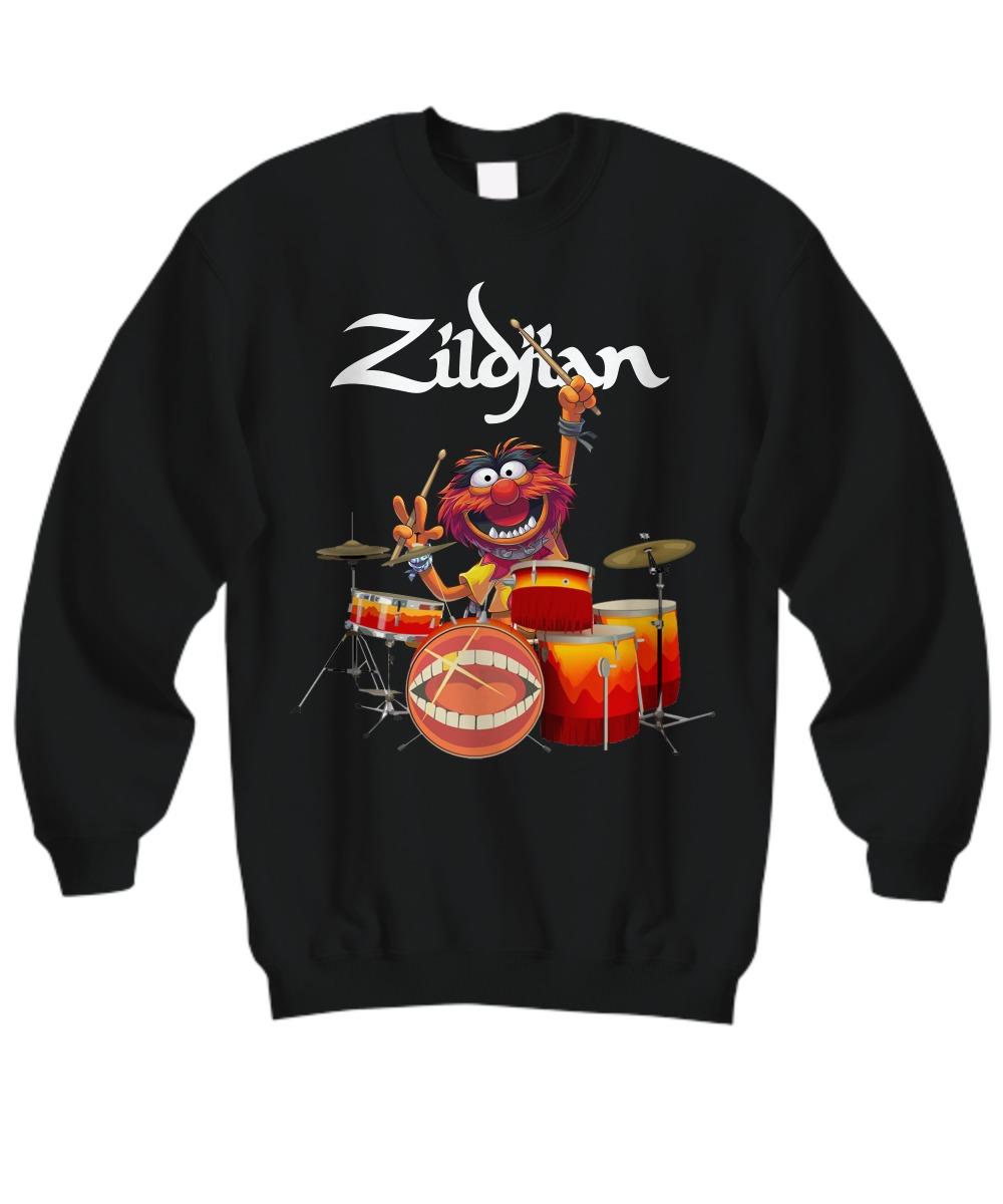 Zildjian muppet playing drums sweatshirt