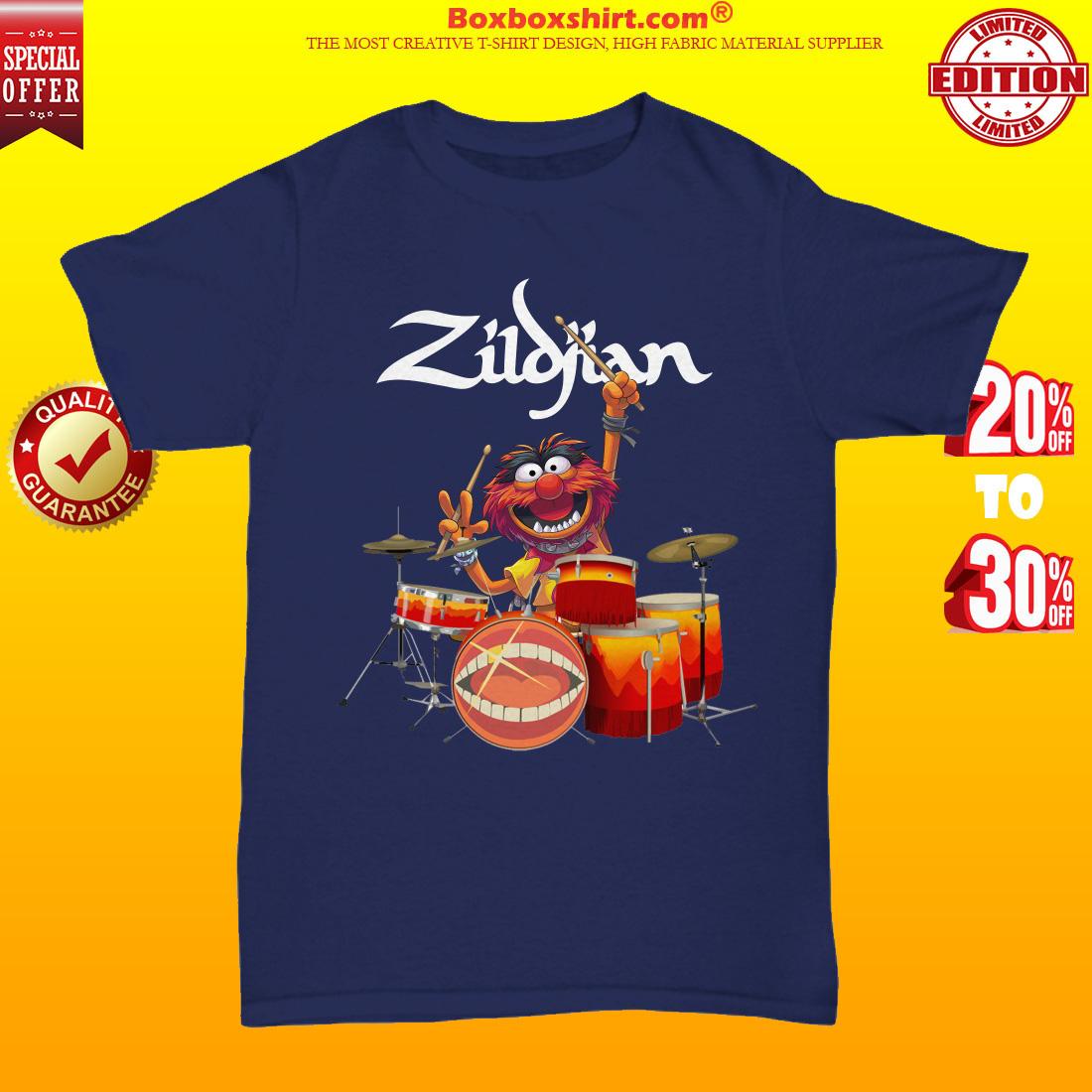 Zildjian muppet playing drums unisex tee shirt
