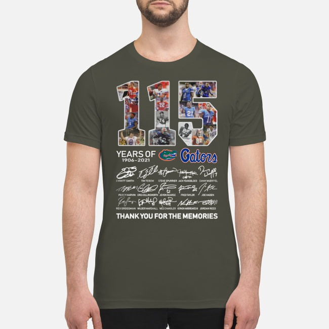 115 years of Gators 1906 2021 signatures premium men's shirt