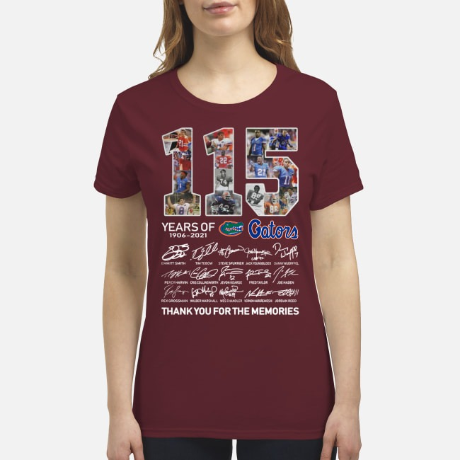 115 years of Gators 1906 2021 signatures premium women's shirt