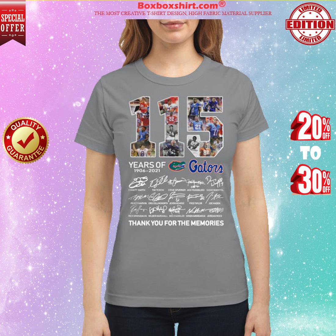 115 years of Gators 1906 2021 signatures shirt