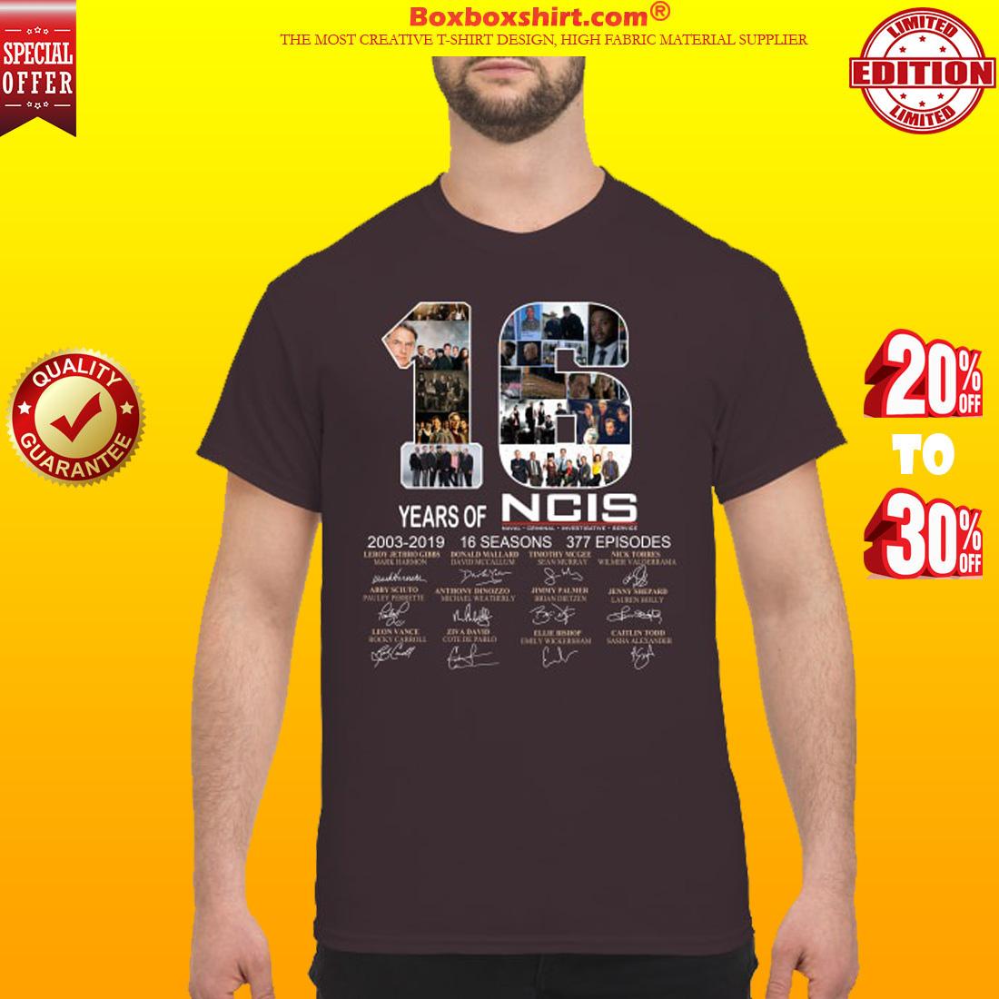 16 years of NCIS 2003 2019 shirt