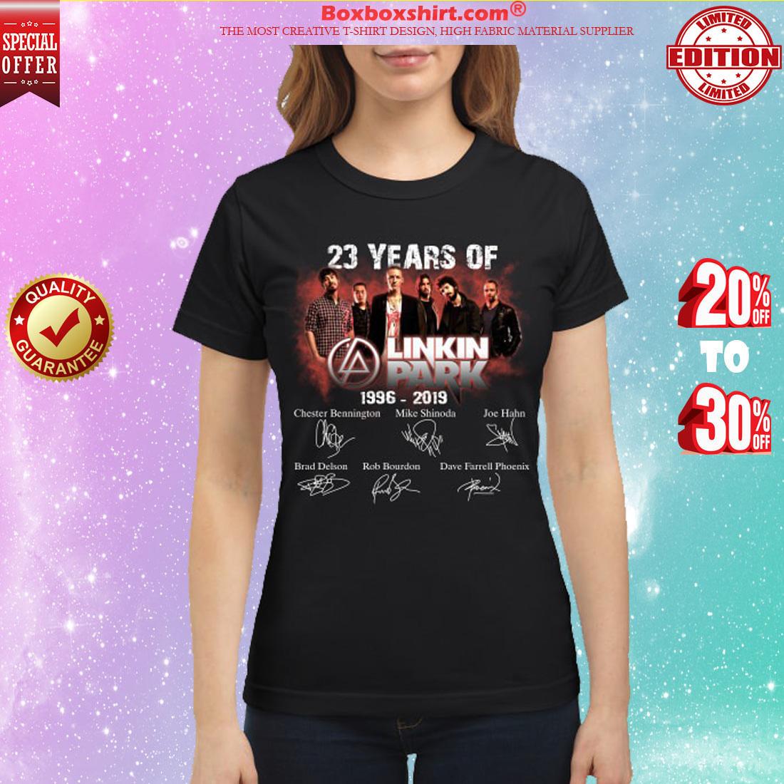 23 years of Linkin park 1996 2019 classic shirt