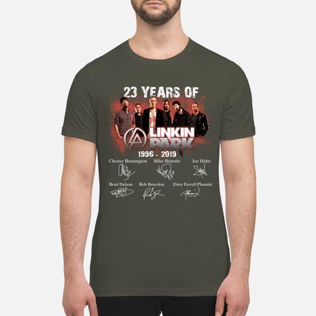 23 years of Linkin park 1996 2019 premium men's shirt