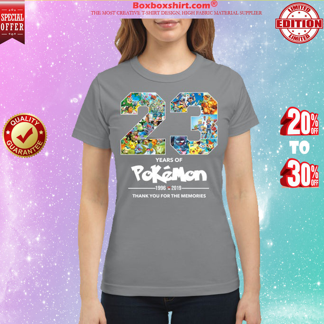 23 years of Pokemon 1996 2019 thank you for memories classic shirt