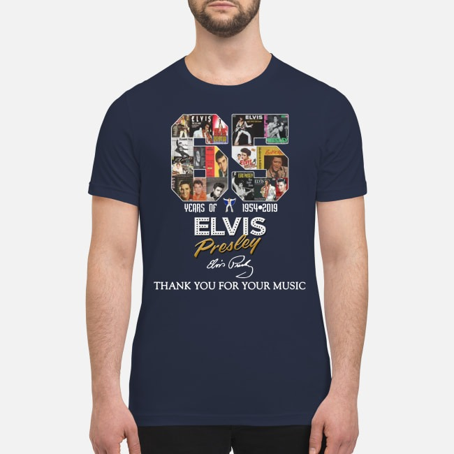65 years of Elvis Presley thank you for your music premium men's shirt