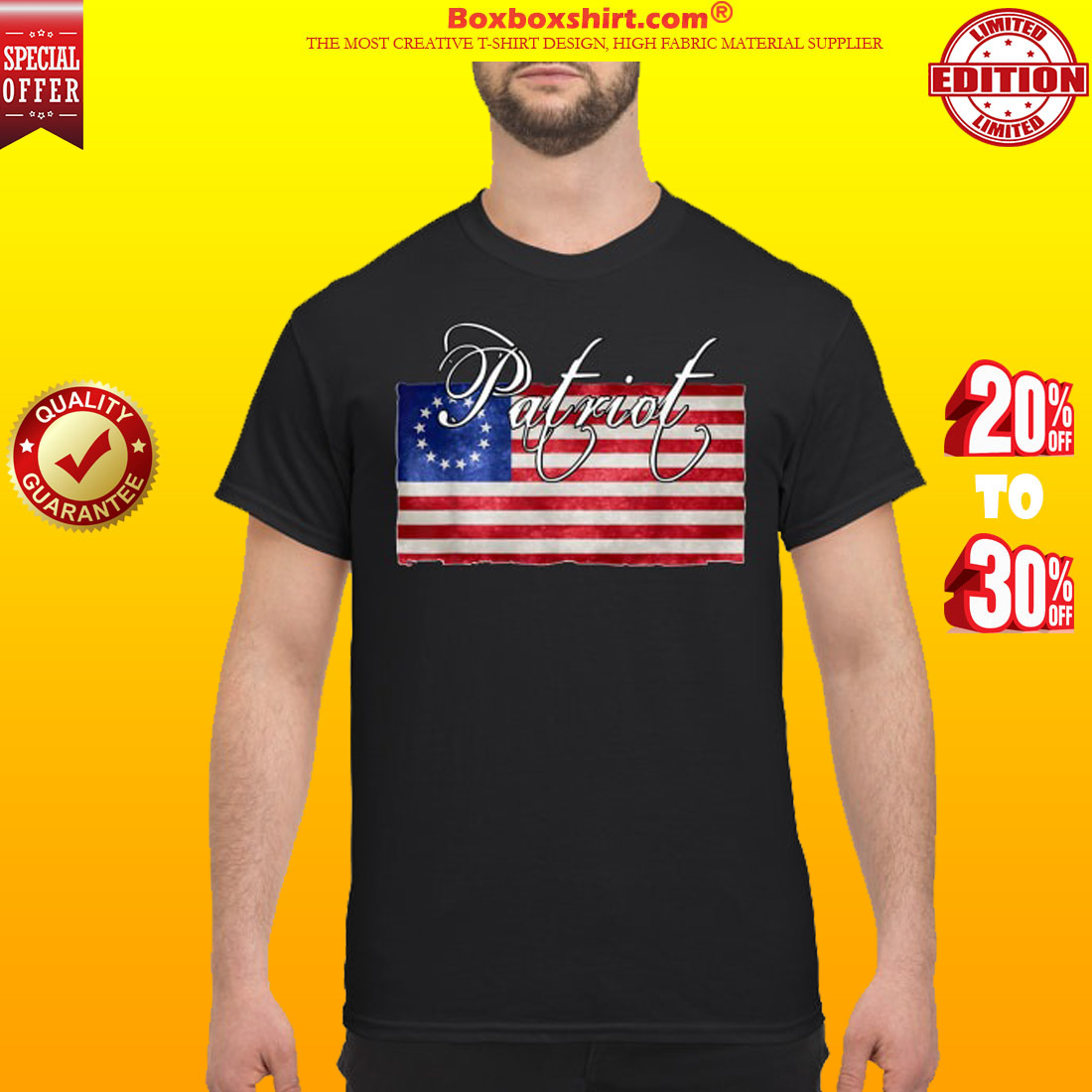 American betsy ross flag Patriot classic shirt