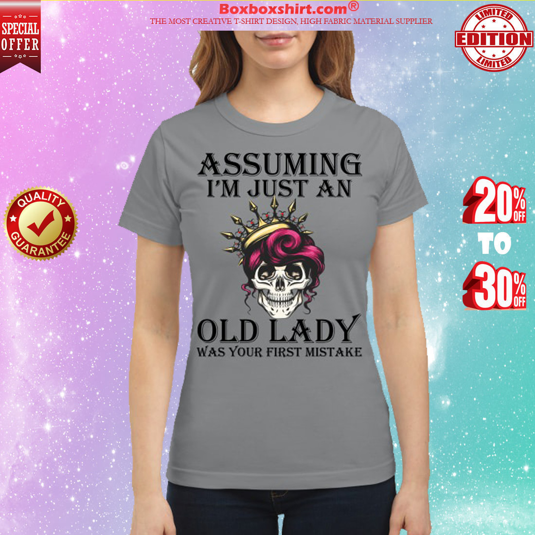 Assuming I'm just an old lady was your first mistake classic shirt