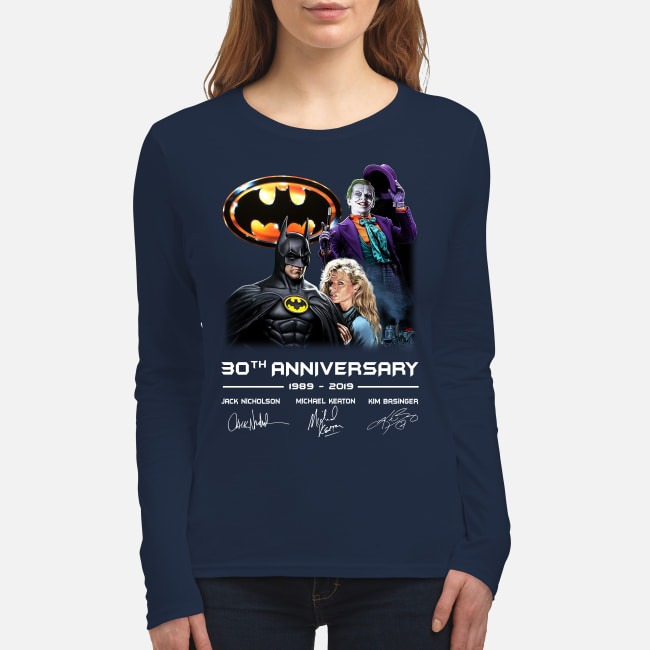 Batman 30th Anniversary 1989 2019 women's long sleeved shirt