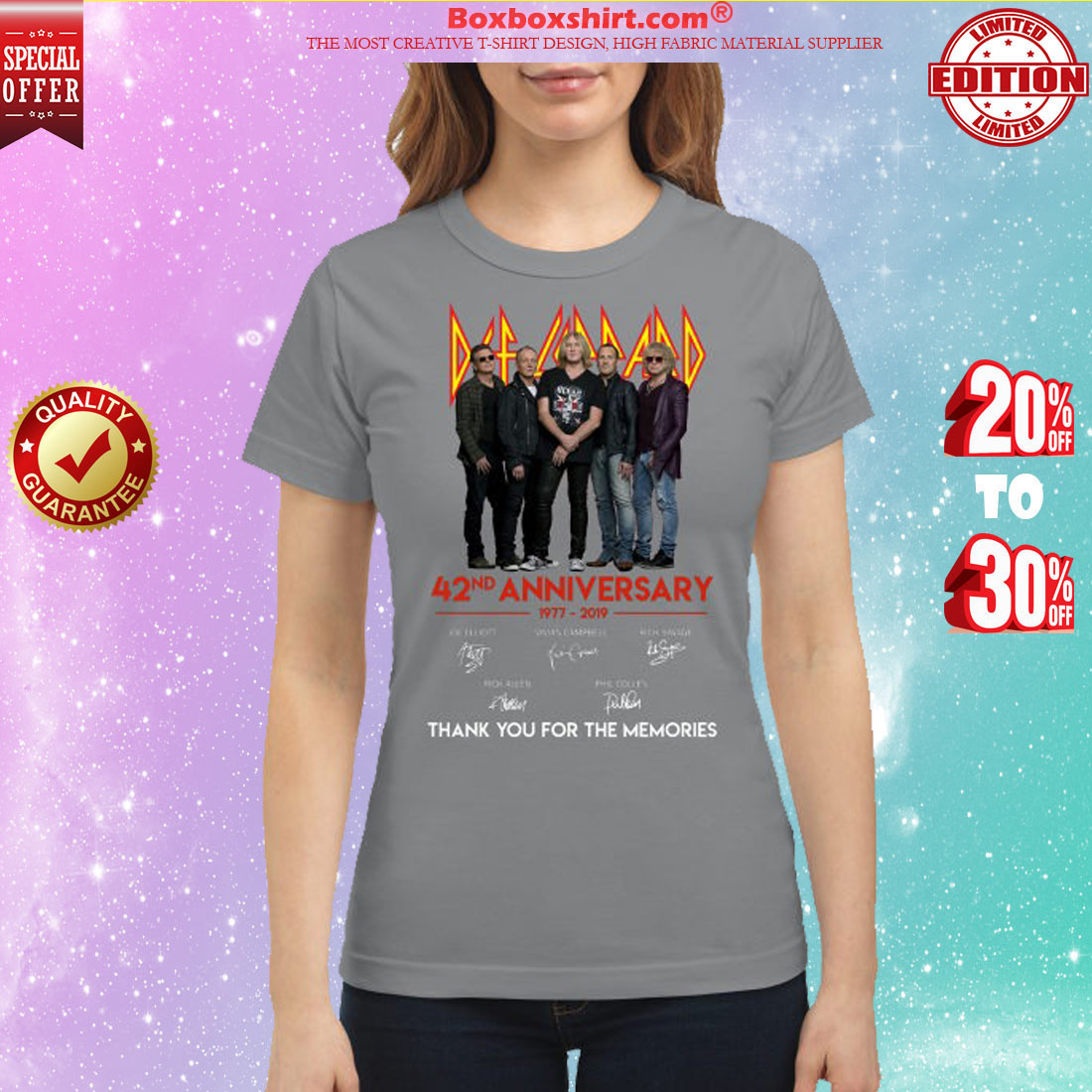 Def leppard 42nd anniversary thank for the memories classic shirt