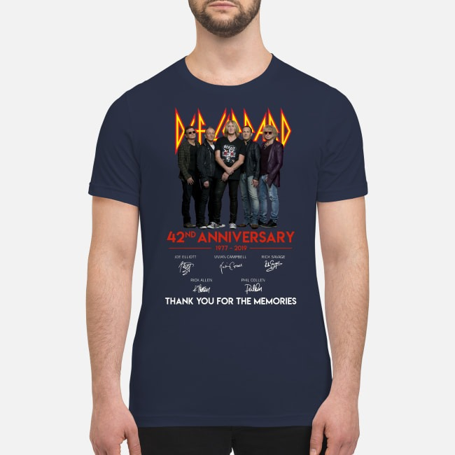 Def leppard 42nd anniversary thank for the memories premium men's shirt
