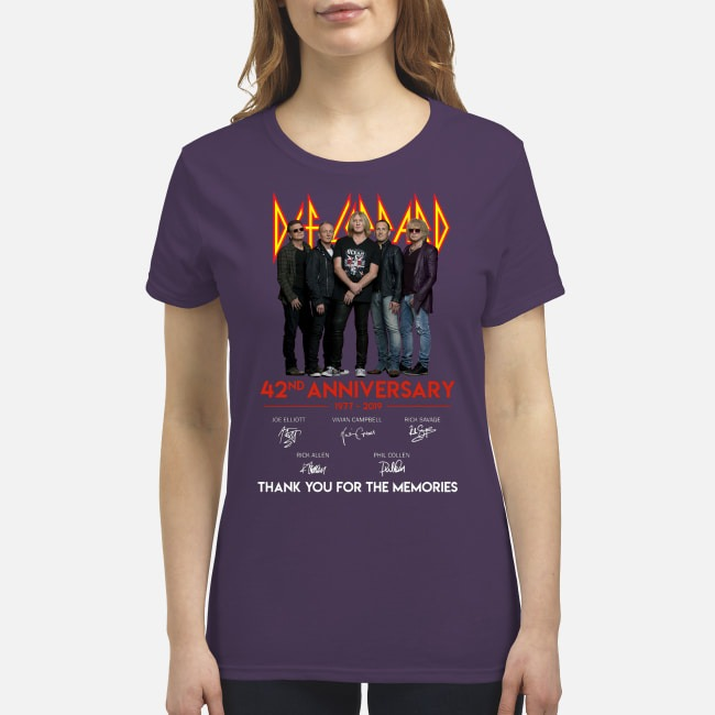 Def leppard 42nd anniversary thank for the memories premium women's shirt