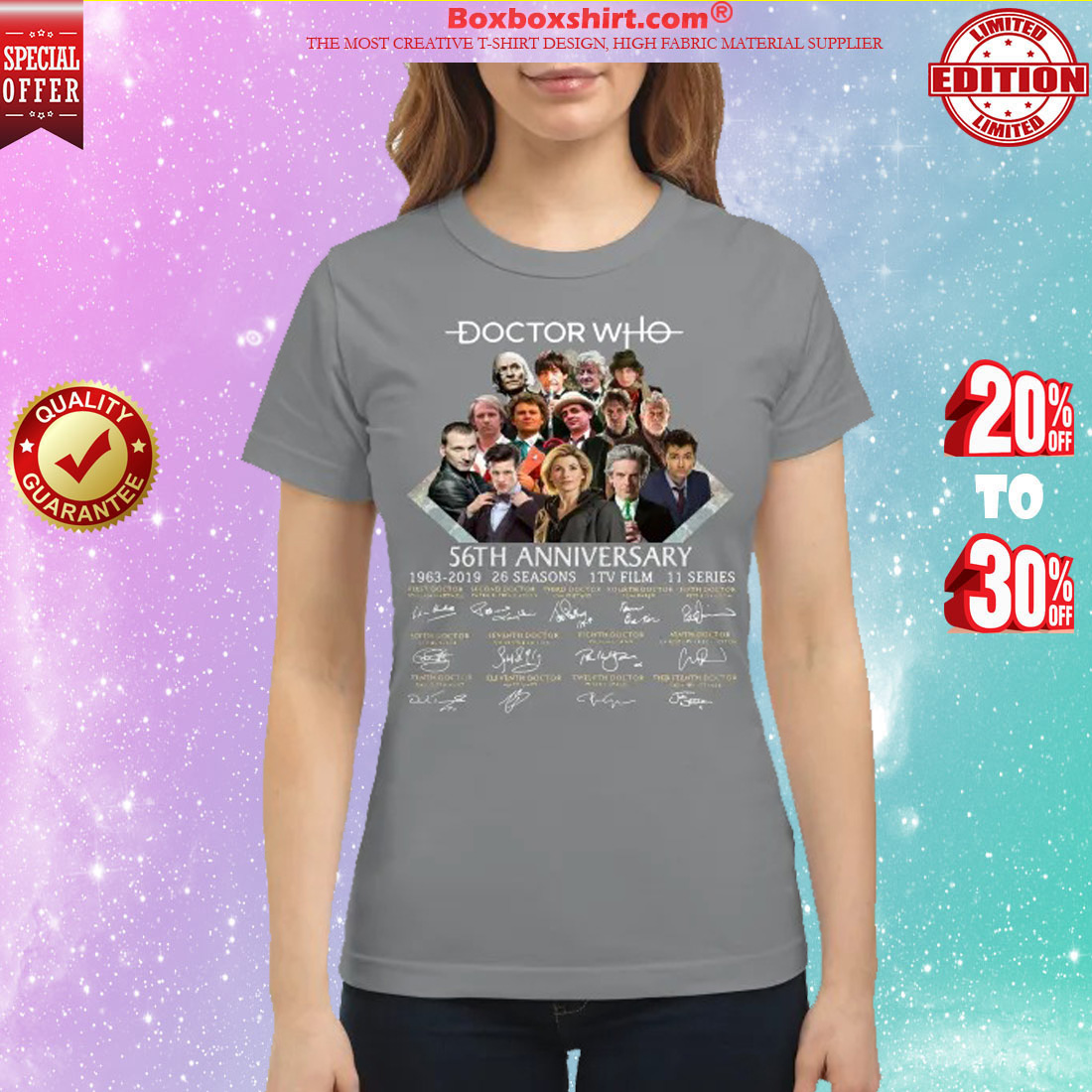 Doctor who 56th anniversary 1963 2019 classic shirt