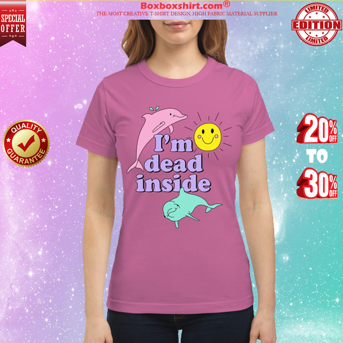 Dolphin I'm dead inside classic shirt