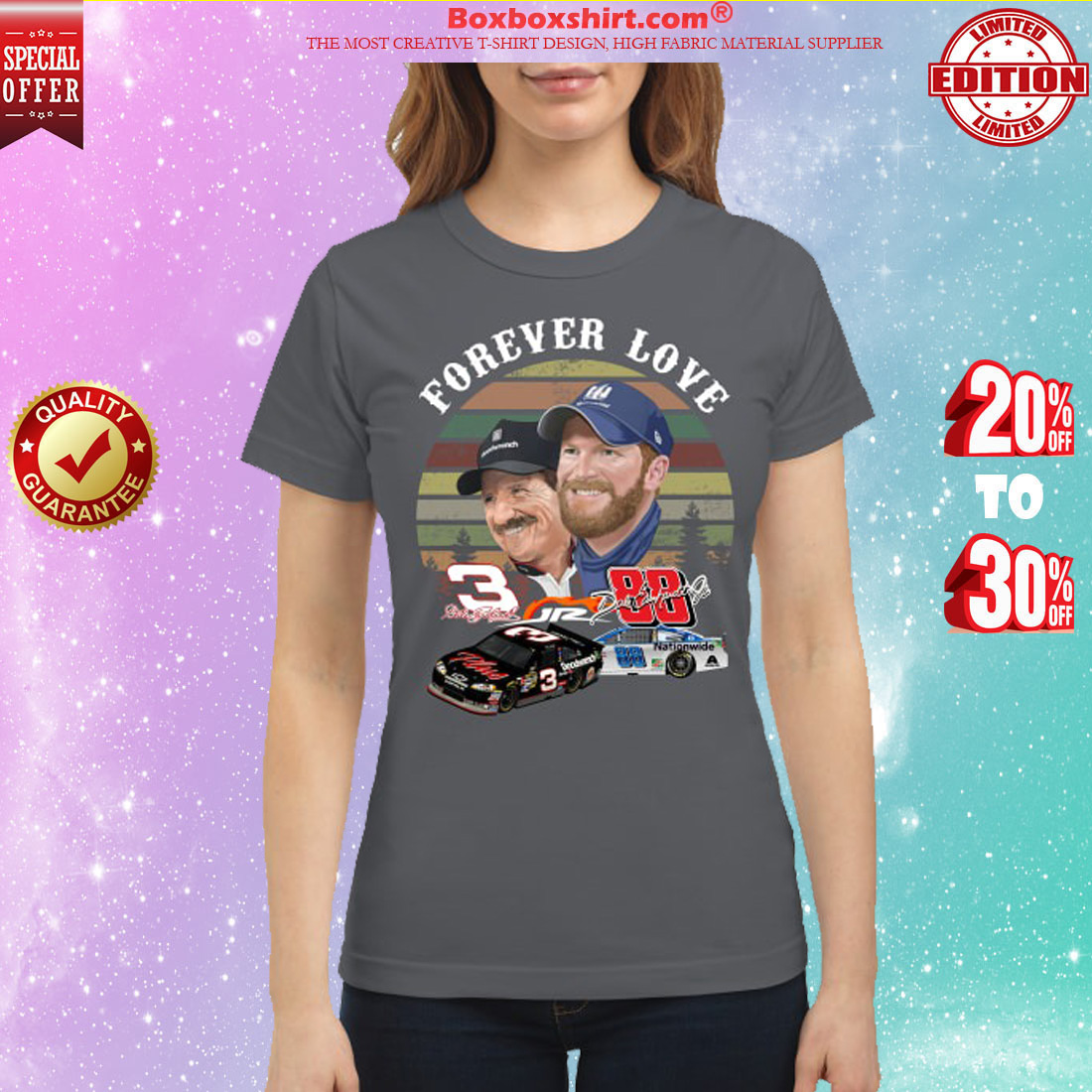 Forever love Dale Earnhardt jr and Dale Earnhardt classic shirt