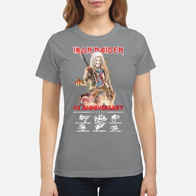 Iron Maiden 45th anniversary 1975 2020 classic shirt